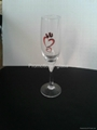 Champagne  glass ,glass cup electroplate