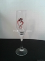 Champagne  glass ,glass cup electroplate glassware 2