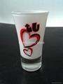 Glass tumbler , promotional glass mug 4