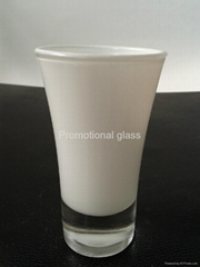 Glass tumbler , promotional glass mug