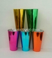 Electroplated  glass cup,promotional beer glass mug 2