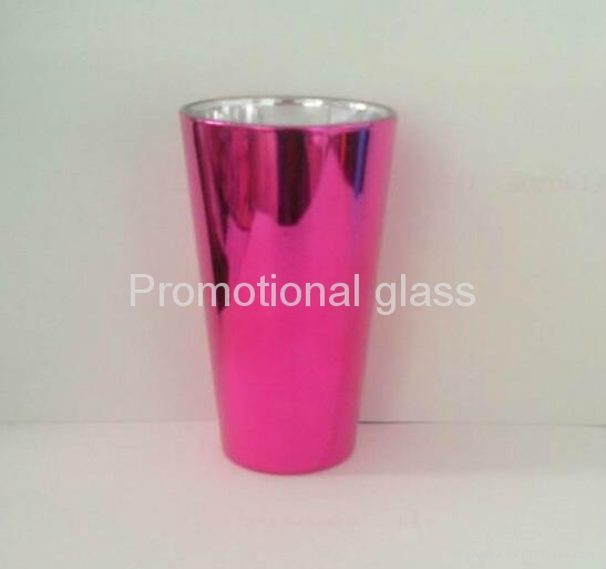 Electroplated  glass cup,promotional beer glass mug 4