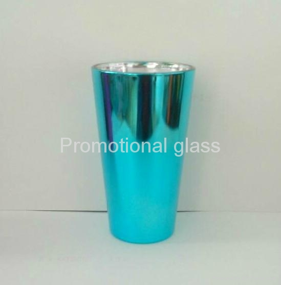 Electroplated  glass cup,promotional beer glass mug 5