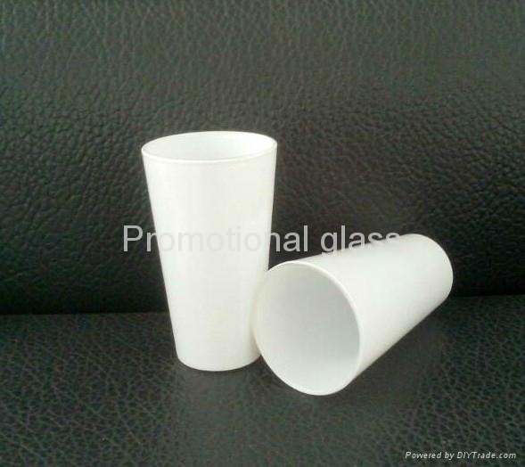 16oz Sublimation white glass cup 1