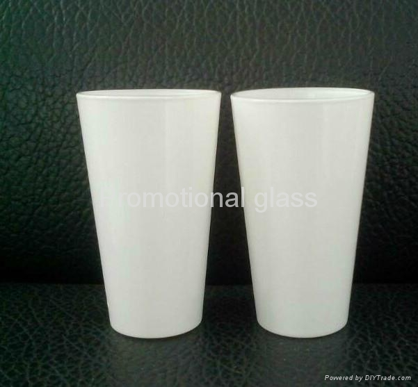 16oz Sublimation white glass cup 2