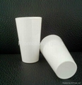 16oz Sublimation white glass cup 4