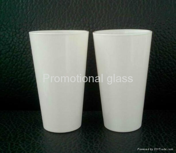 16oz Sublimation white glass cup 5