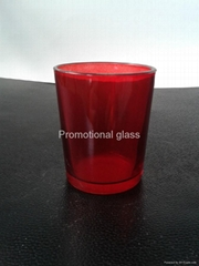 Sprayed  glass cup