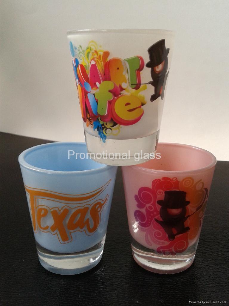 Color coating glass mug  ,promotional glass mug 2