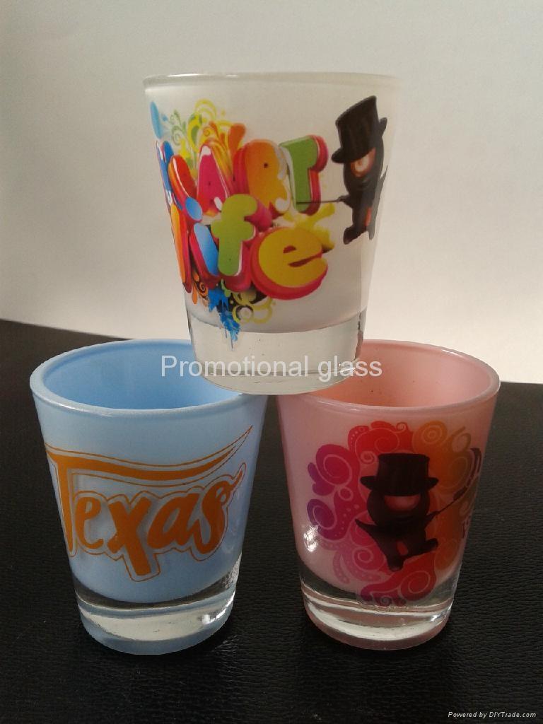 Color coating glass mug  ,promotional glass mug 3