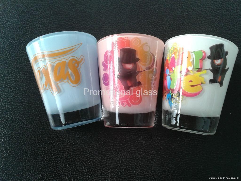 Color coating glass mug  ,promotional glass mug 4