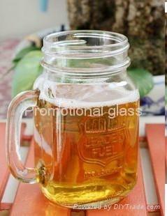 colored mason jar,drinking glass jar with handle 4
