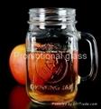 colored mason jar,drinking glass jar with handle 5