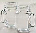 colored mason jar,drinking glass jar with handle 6