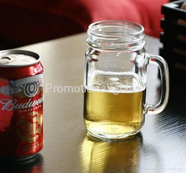 colored mason jar,drinking glass jar with handle 2
