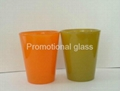 color coating glass cup Sprayed glass cup 1