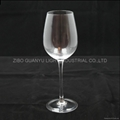 red wine glass ,lead free 1