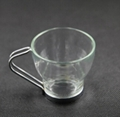 Glass Coffee Mug with stainless steel