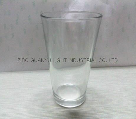 color coating glass mug , promotional glass mug 4