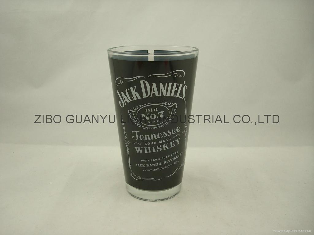 color coating glass mug , promotional glass mug 7