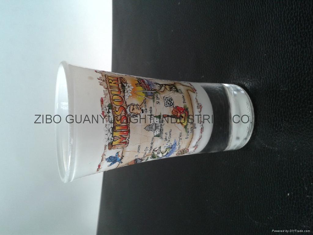Glass tumbler , promotional glass mug 3