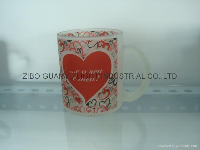 11OZ Sprayed glass mug  4