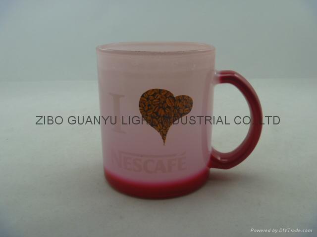 11OZ Sprayed glass mug  5
