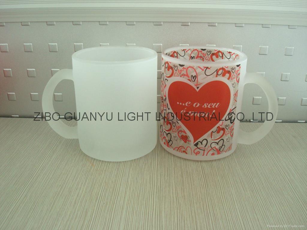 11OZ Sprayed glass mug  11