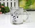 glass mug 11OZ, sublimation glass mug 5