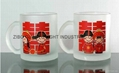 glass mug 11OZ, sublimation glass mug 6
