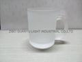 glass mug 11OZ, sublimation glass mug 7