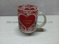 glass mug 11OZ, sublimation glass mug 9
