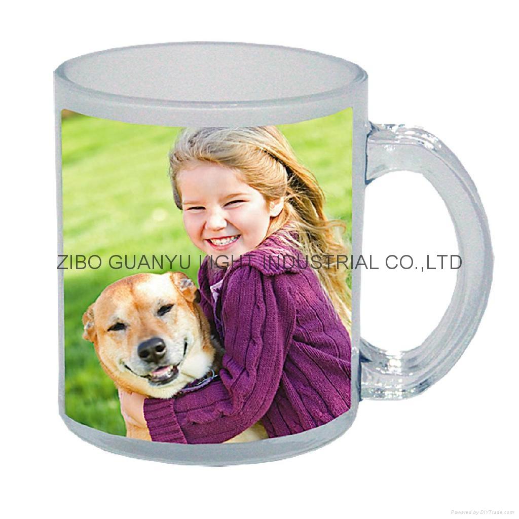 glass mug 11OZ, sublimation glass mug 1