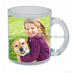 glass mug 11OZ, sublimation glass mug (Hot Product - 1*)