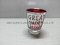 Color coating glass mug  ,promotional glass mug 5