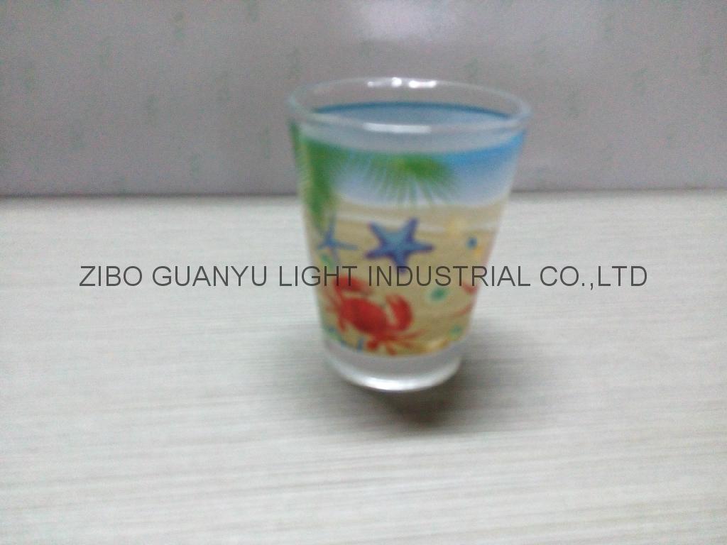 Color coating glass mug  ,promotional glass mug 1