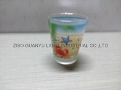 Color coating glass mug  ,promotional glass mug