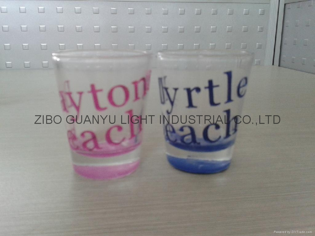 color coating glass cup Sprayed glass cup 6