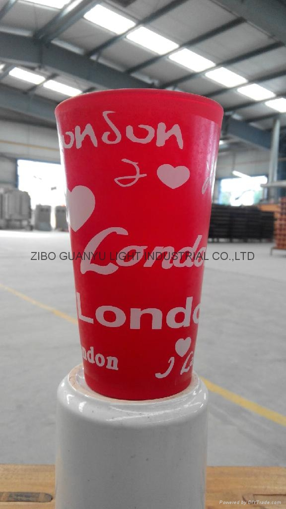 color coating glass cup Sprayed glass cup 9
