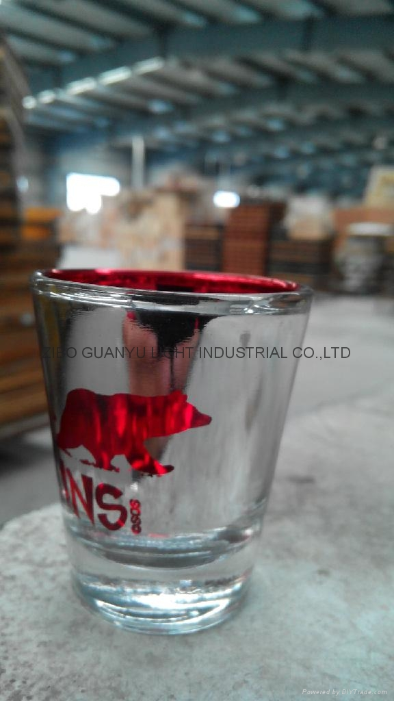 color coating glass cup Sprayed glass cup 13