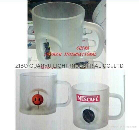 Sublimation glass mug with handle 3