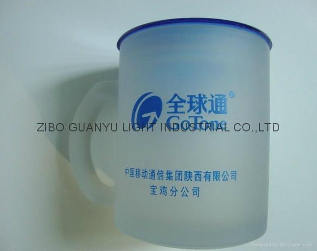 Sublimation glass mug with handle 4