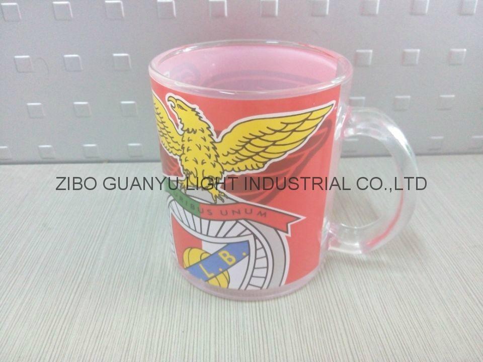 Sublimation glass mug with handle 1