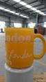 Sublimation glass mug with handle 6