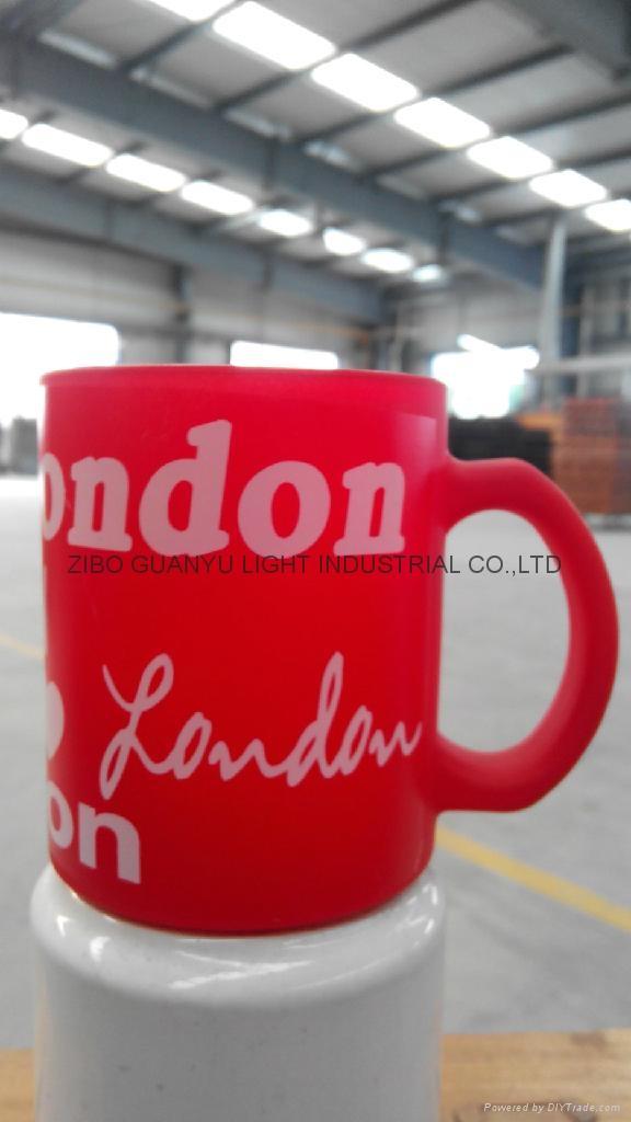 Sublimation glass mug with handle 5