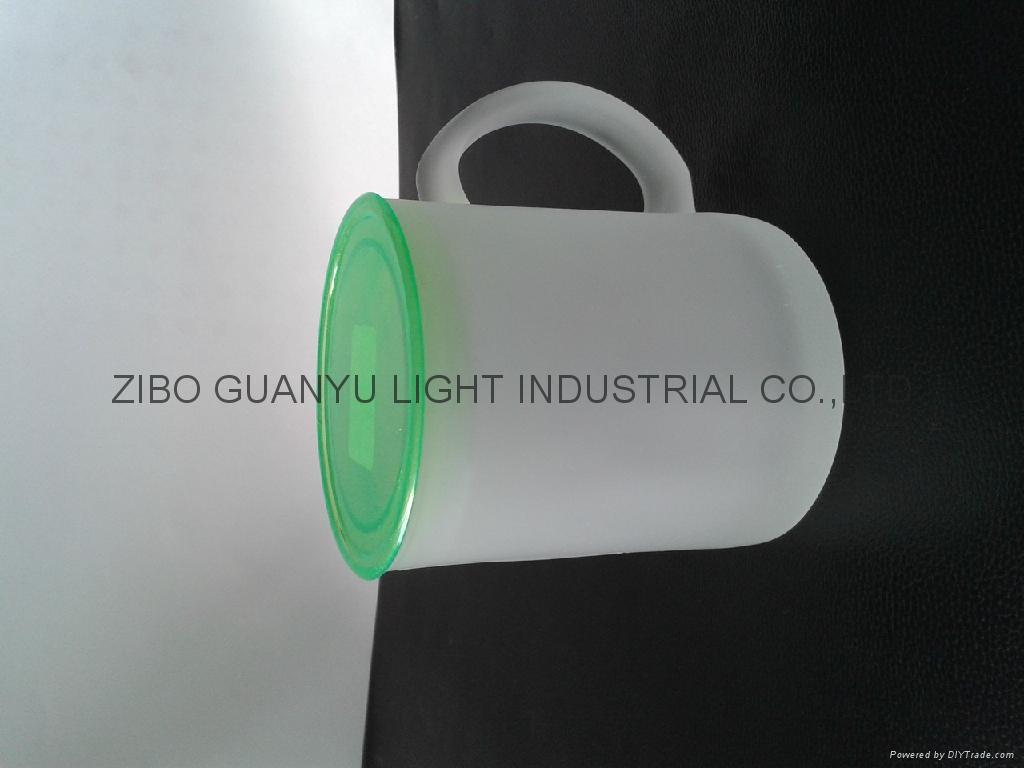 Sublimation glass mug with handle 7