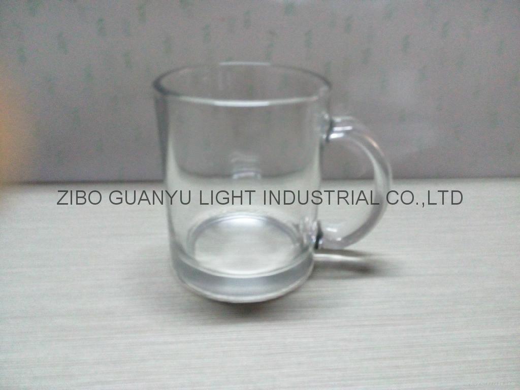 Sublimation glass mug with handle 9