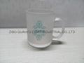 Sublimation glass mug with handle 11