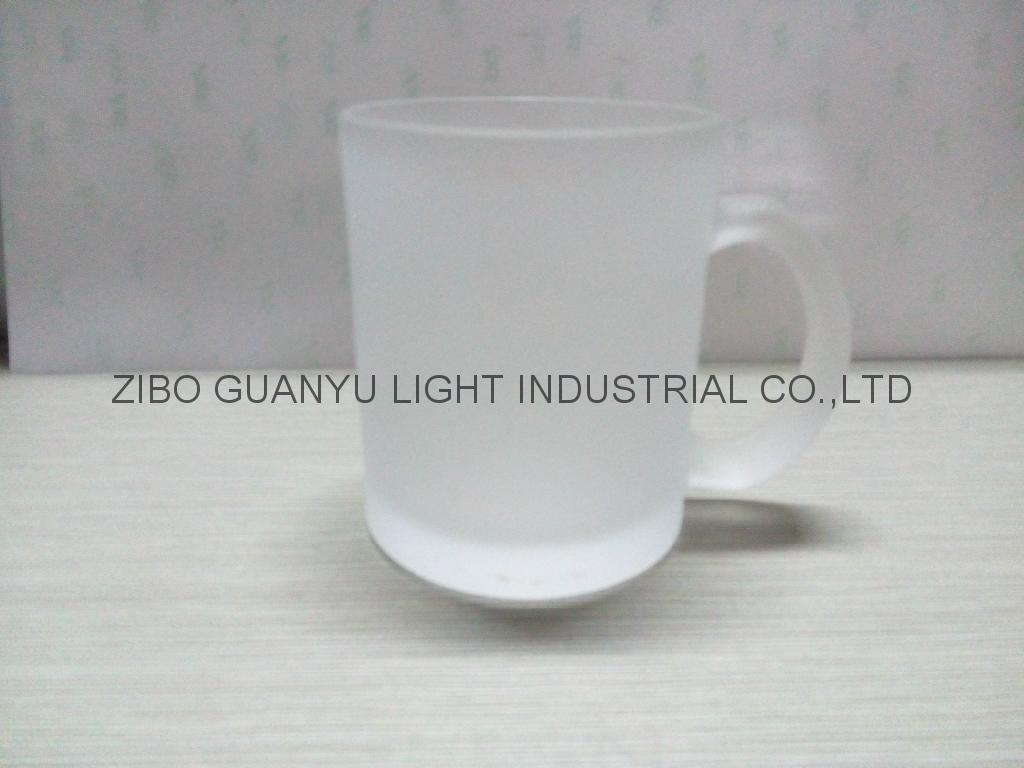Sublimation glass mug with handle 10