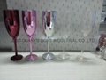 Champagne  glass ,glass cup electroplate glassware 6